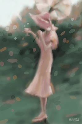 Digital Painting - Garden Party by Beverly Brown