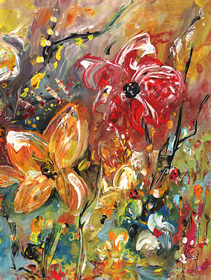 Painting - Garden Party Diptych 01 by Miki De Goodaboom