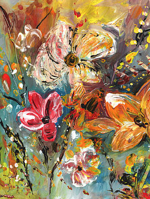 Painting - Garden Party Diptych 02 by Miki De Goodaboom