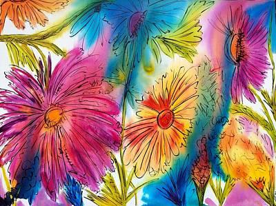 Garden Party Art Print by Jane Robinson