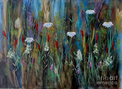 Painting - Garden Party by Karen Day-Vath