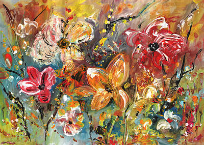 Painting - Garden Party by Miki De Goodaboom
