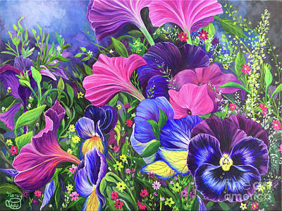 Painting - Garden Party by Nancy Cupp