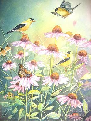 Garden Party Art Print by Patricia Pushaw