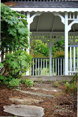 Photograph - Garden Path And Gazebo by Todd Blanchard