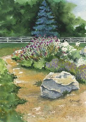 Garden Path Art Print by Marsha Elliott