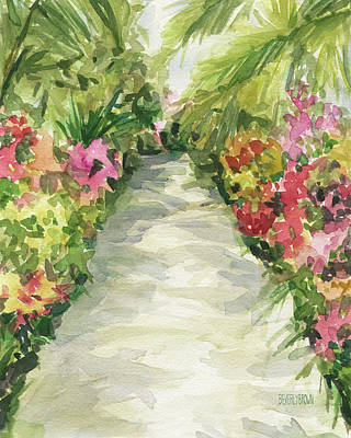 Painting - Garden Path New York Botanical Garden Orchid Show by Beverly Brown