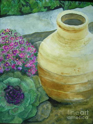 Garden Path Art Print by Vivian  Mosley