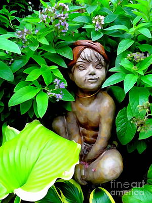 Digital Art - Garden Pixie by Ed Weidman