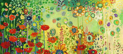 Modern Abstract Painting - Garden Poetry by Jennifer Lommers