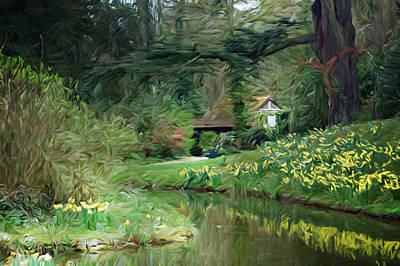 Garden Pond Art Print by Carol Crisafi