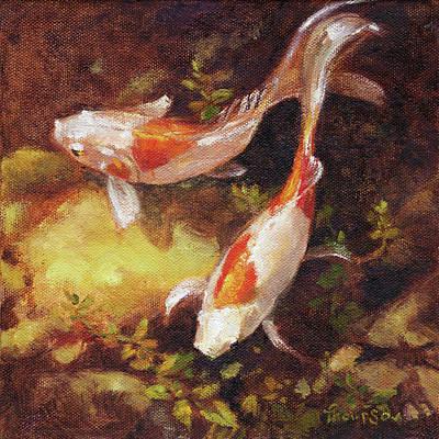 Garden Pond Goldfish 1 Original by Tracie Thompson
