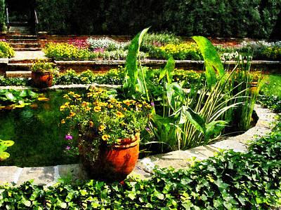Pond Photograph - Garden Pond by Susan Savad