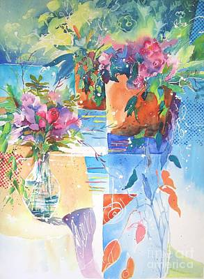 Painting - Garden Pool by John Nussbaum