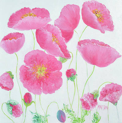 Painting - Garden Poppies by Jan Matson