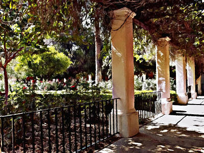 Photograph - Garden Promenade - San Fernando Mission by Glenn McCarthy Art and Photography