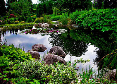 Photograph - Garden Reflections ... by Juergen Weiss