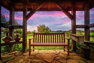 Photograph - Garden Romance by Debra and Dave Vanderlaan