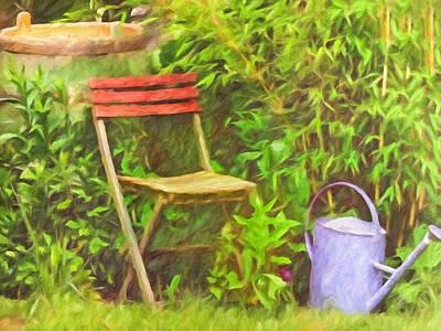 Painting - Garden Romance by Lutz Baar