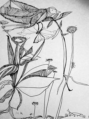 Wall Art - Drawing - Garden by Rosalinde Reece