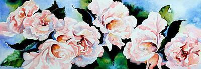 Garden Roses Art Print by Hanne Lore Koehler