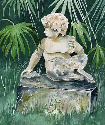 Maine Landscapes Painting - Garden Satyr by Brenda Owen