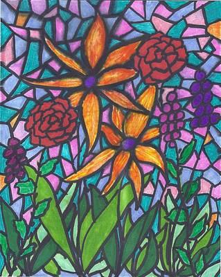 Painting - Garden Scene IIi by Wayne Potrafka