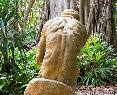 Photograph - Garden Sculpture 1 by Richard Goldman