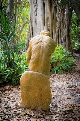Photograph - Garden Sculpture 2 by Richard Goldman