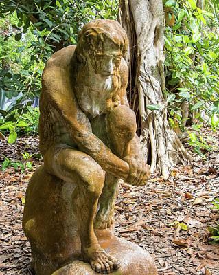 Photograph - Garden Sculpture 3 by Richard Goldman