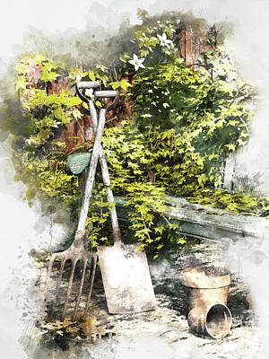 Garden Seat Art Print by Shanina Conway