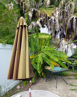 Patio Umbrellas Digital Art - Garden Series 9 by Rhonda Miller
