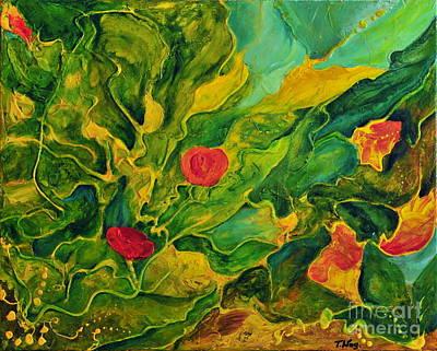 Art Print featuring the painting Garden Series by Teresa Wegrzyn