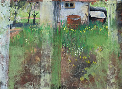 Painting - Garden Shack Idyll by Martin Stankewitz
