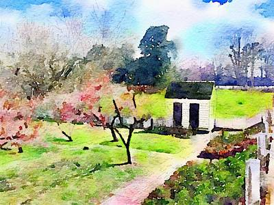 Shed Digital Art - Garden Shed by Wendy Biro-Pollard