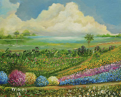 Painting - Garden Near Lagoon by Alicia Maury