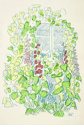 Vines Drawing - Garden Sketch by German School