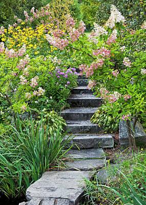 Photograph - Garden Stairway by Alan L Graham