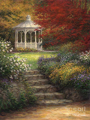 Ideas Painting - Garden Steps by Chuck Pinson
