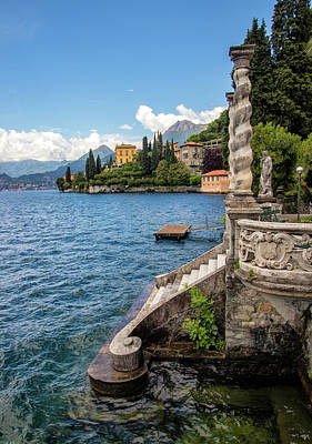 Photograph - Garden Steps To The Lake by Carolyn Derstine