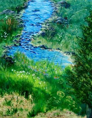 Painting - Garden Stream by Jamie Frier