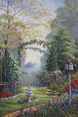 Garden Stroll Art Print by Diana Miller