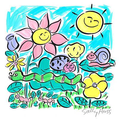 Wall Art - Painting - Garden Sunflower by Sally Huss