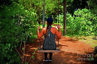 Photograph - Garden Swing 121417-2 by Ray Shrewsberry