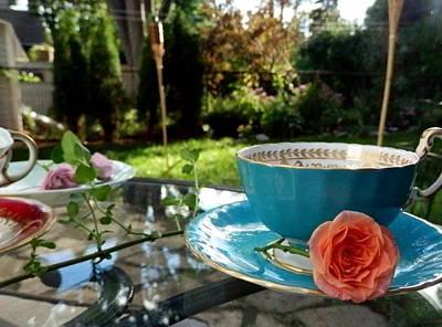 Tea Party Photograph - Garden Tea Party by Mila Araujo