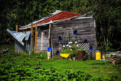 Old Tool Shed Photograph - Garden Tool Shed by Garry Gay