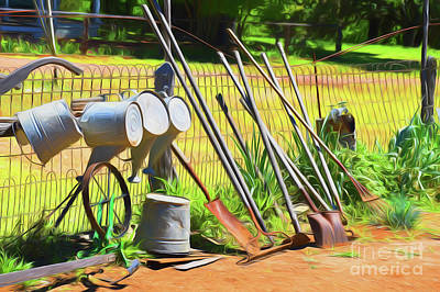 Photograph - Garden Tools 11618 by Ray Shrewsberry