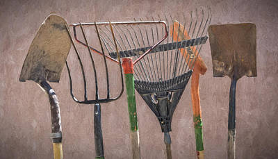 Photograph - Garden Tools by Jim Vallee