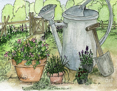 Painting - Garden Tools by Laurie Rohner