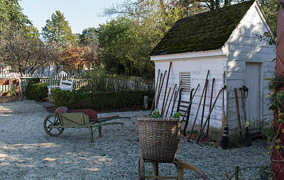 Potting Shed Photograph - Garden Tools by Teresa Mucha